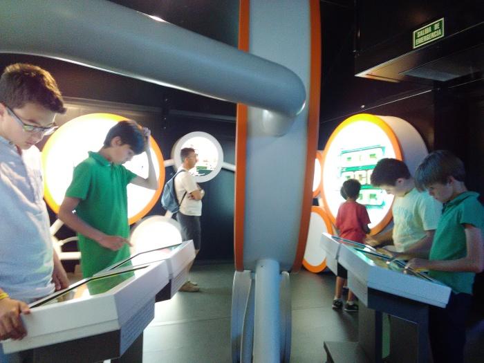 Durante el recorrido había varios juegos interactivos como este para poder aprender de una forma divertida